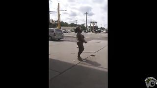 Ebony woman exposes her curves at the gas station--_short_preview.mp4
