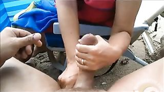 Stimulation of my phallus makes me cum on day at the beach--_short_preview.mp4