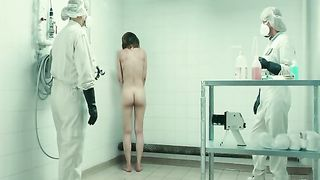 Naked woman sprayed clean by men in hazmat suits--_short_preview.mp4