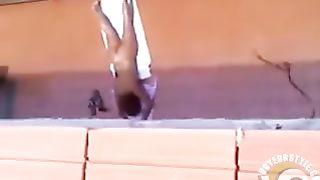 Nude ladies sunbathing on the deck below--_short_preview.mp4