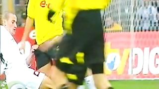 Footballer's penis pops out of his shorts on the pitch--_short_preview.mp4