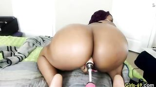 Black babe with a phat ass and her powerful fucking machine--_short_preview.mp4