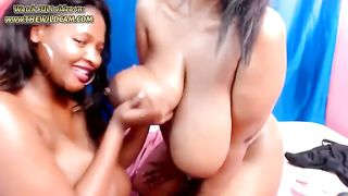 These two huge breasted lesbians love playing with their dildos on cam--_short_preview.mp4