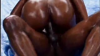 Ubielivable hot ebony slut in oil gets fucked hard outdoors--_short_preview.mp4