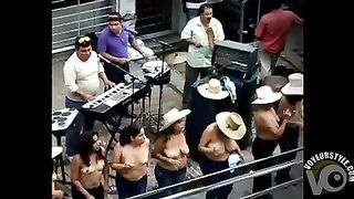 Busty Latina women dancing topless on the street--_short_preview.mp4