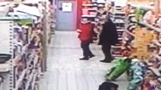 Impudent brunette urinates in the middle of the supermarket floor--_short_preview.mp4