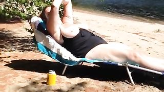 Fat mature sunbathes with her big melons out--_short_preview.mp4