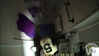 Bathroom ceiling cam shows my wife's morning routine--_short_preview.mp4
