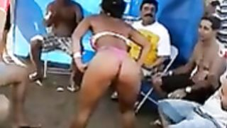 Lap dancing bikini babe at an outdoor party--_short_preview.mp4