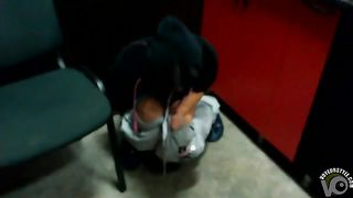 Girl pees into a cup in the office--_short_preview.mp4