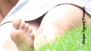 Ginger girl has her shaved fanny revealed to the voyeur camera--_short_preview.mp4