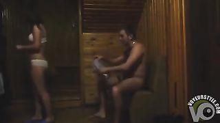 Ravishing brunette chick gets seduced in the sauna--_short_preview.mp4