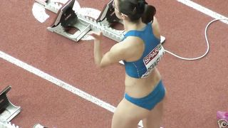 Ravishing Italian sportswoman runs on the athletic track--_short_preview.mp4