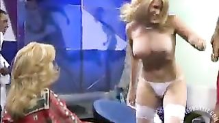 Busty blonde girl stripped nude on Spanish TV show--_short_preview.mp4