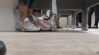Female feet and shoes in the public toilet--_short_preview.mp4