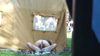 Good looking fangirl gets rammed behind a tent at the open air party--_short_preview.mp4