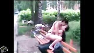 Russian hookers in underwear hook up on a public bench--_short_preview.mp4