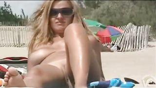 Big natural tits hottie tans at the beach--_short_preview.mp4