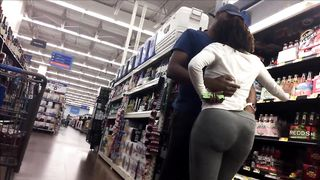 Black lady with a cute butt walks around the supermarket--_short_preview.mp4