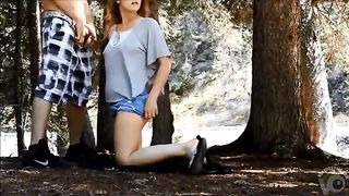 Amateur sex in the woods with a young girlfriend--_short_preview.mp4