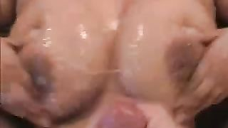 She squeezes her boobies together to get a cumshot coating--_short_preview.mp4