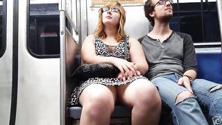 Fat chick on the subway sits with her legs open--_short_preview.mp4