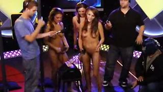 Skinny doll squirts on the Sybian on radio show--_short_preview.mp4