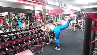 My fitness trainer's buttocks bounce as she works out--_short_preview.mp4