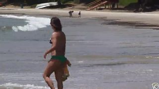 Tanned woman with a nice butt at the beach--_short_preview.mp4