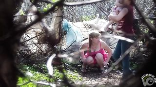 Busty damsel dressed in pink takes a leak in the open air--_short_preview.mp4