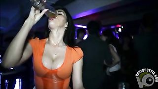 Tasty beer dripping onto her gorgeous tits--_short_preview.mp4