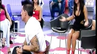 Busty babe on reality show gives upskirt flashes--_short_preview.mp4