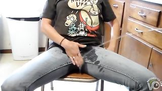 My girlfriend pisses in her jeans and then I piss on her--_short_preview.mp4