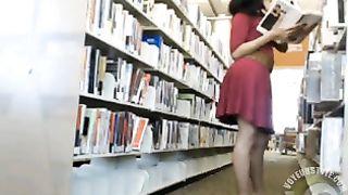 Gorgeous babe in a crimson dress makes public webcam tease--_short_preview.mp4