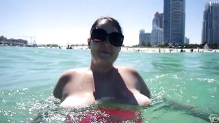 Chubby mommy gets recorded having her large tits out while swimming--_short_preview.mp4
