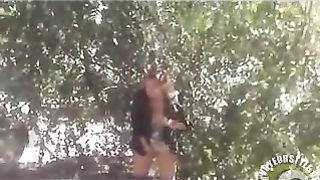 Messed up chick pisses under a tree in public--_short_preview.mp4