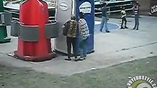 Drunk Mexican chick peed herself while waiting to use a public toilet--_short_preview.mp4