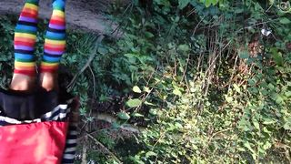 Ass flashing upskirt in the woods--_short_preview.mp4
