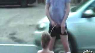 Pissing on a girl in the middle of the road--_short_preview.mp4