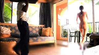 Naked ebony girlfriend in hotel room takes room service delivery--_short_preview.mp4