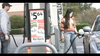 Girlfriend has her tits out as she gasses the car--_short_preview.mp4