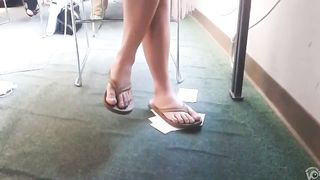 My university girlfriend with beautiful feet in flip flops--_short_preview.mp4