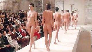 Naked models and a pregnant girl at runway show--_short_preview.mp4