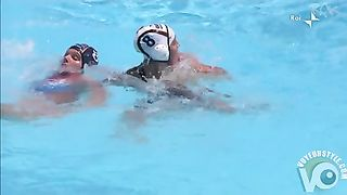 Water polo player has a nipple slip in the pool--_short_preview.mp4