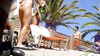 Tanned blonde takes off her bikini after a swim--_short_preview.mp4