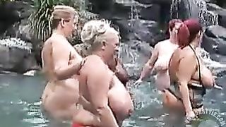 Chubby chicks in the warm water of the pool--_short_preview.mp4