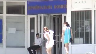 Wind is the enemy of this hot babe's short white dress--_short_preview.mp4