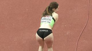Gorgeous sportswoman from Slovenija enters a long jump competition--_short_preview.mp4