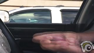 Car stroking as a lady looks at his cock--_short_preview.mp4