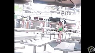 My friend's wife on her phone at the tables--_short_preview.mp4